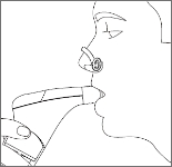 息を吸うときに鼻から空気が入ってしまう方は、ノーズクリップをお使いください。 ただし、鼻より口で呼吸がしやすくなりますが、必須ではありません。ノーズクリップを使用しない方が、呼吸をしやすい場合もあります。